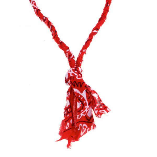 """Collana """"lampa"""" a bandana rossa intrecciata per uomo"""