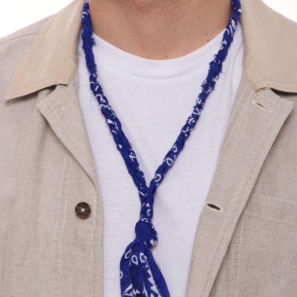 """Collana """"Rio"""" a bandana blu intrecciata per uomo"""