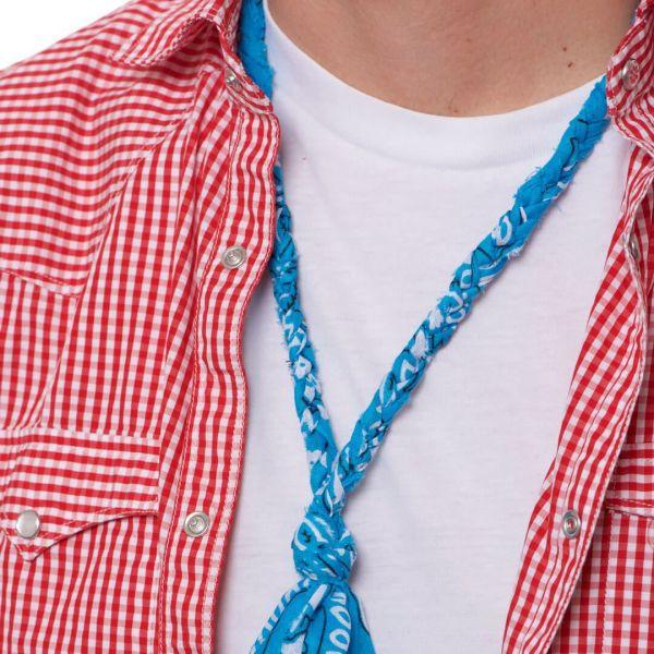 """Collana """"Lima"""" a bandana azzurra intrecciata per uomo"""