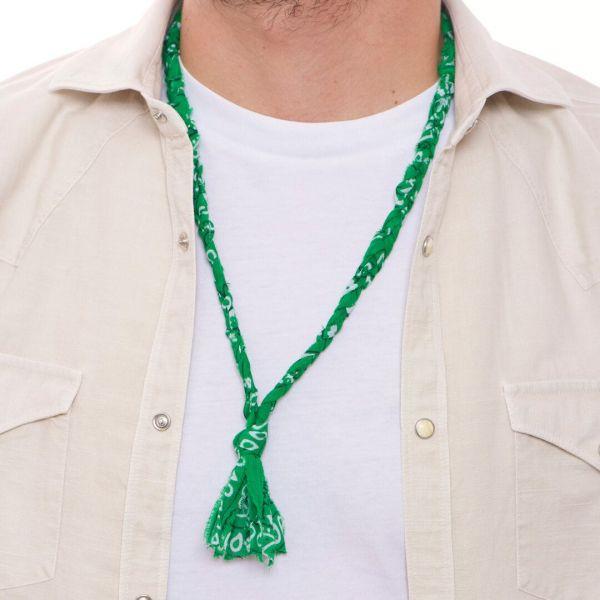 "Collana ""Luis"" a bandana verde intrecciata per uomo"